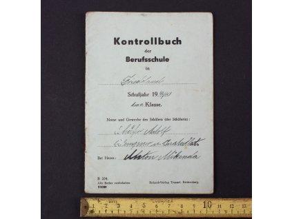 Kontrollbuch der Berufsschule Kontrolní knížka 1942