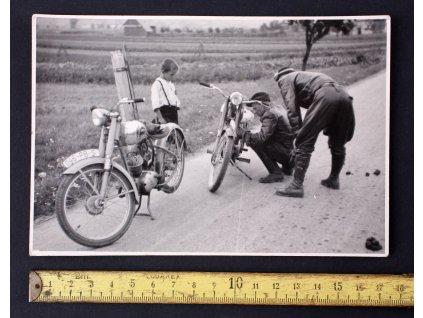 Sportovní fotka motorky