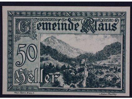31727 nouzova bankovka klaus 50 heller 1920
