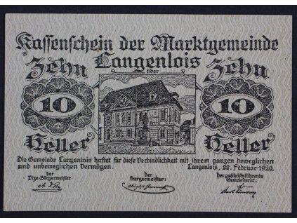 31730 nouzova bankovka 10 heller 1920 langenlois