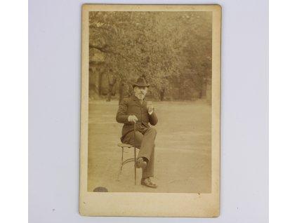 Starožitná fotografie kabinetka
