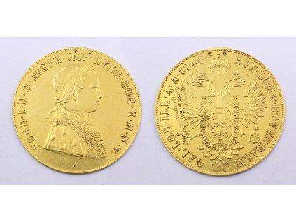 Zlatá mince 4 Dukát Františka Josefa I. 1848 A