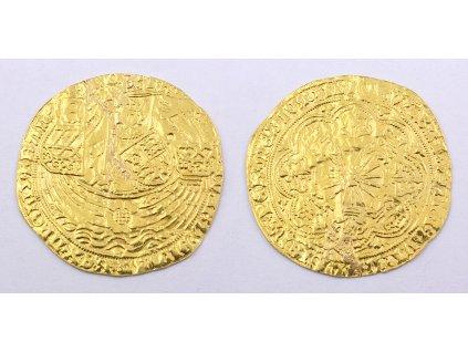 Zlatá středověká mince Edward IV, Ryal Rose (1461 1470)
