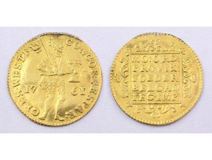 Zlatá mince Netherlands HOLLAND Ducat 1761