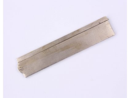 Stříbrný skládací starožitný hřeben