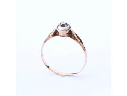 Zlatý prstýnek s diamantem 0,12 ct. V49