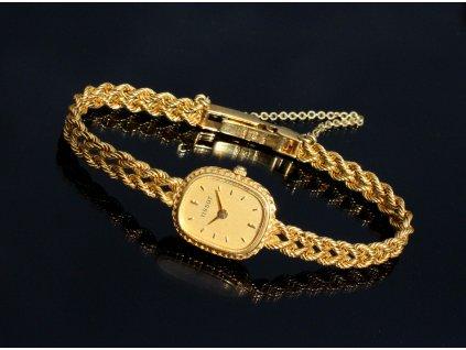 Zlaté dámské hodinky TISSOT