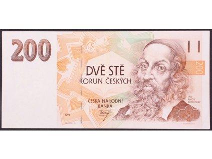 Bankovka 200 Kč vzácná varianta proužek ZAIRE (1)