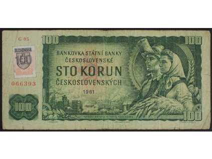 35381 100 kcs 1961 s g kolek slovensko