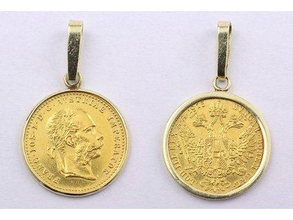 Zlatý Dukát Františka Josefa I. s rámečkem