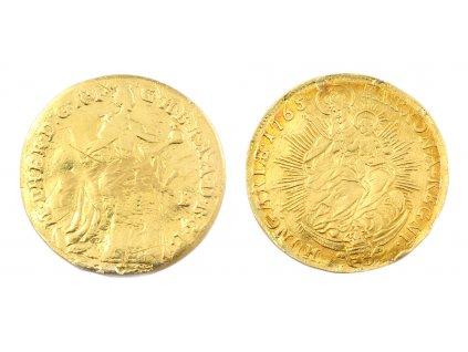 Zlatý Dukát Marie Terezie 1765 KB