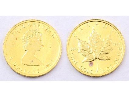 ZLATÁ MINCE ELIZABETH II 5 DOLLARS 1987