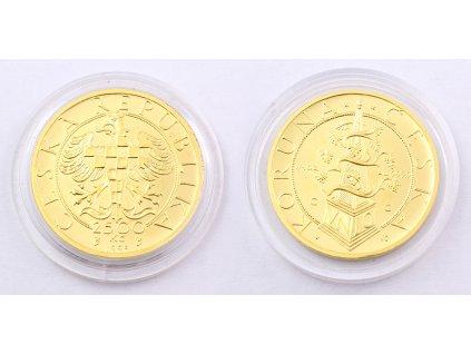 Zlatá ČESKÁ KORUNA 2500 Kč 1995
