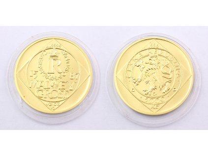 Zlatá mince 5000 Kč Malý groš 1996 ČESKÁ KORUNA