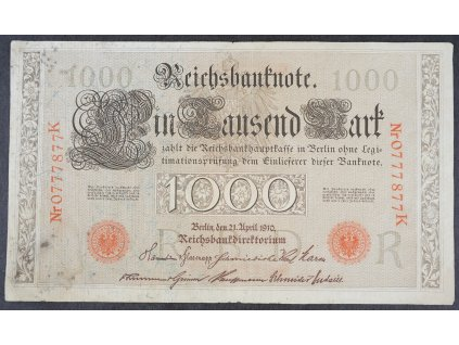 1000 Mark 1910 s.K