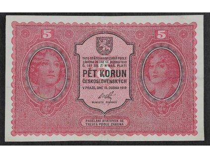 5 Kč 1919 s.