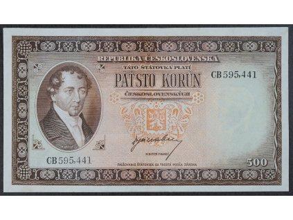 500 Kčs 1945 s.GB NEPERFOROVANÁ 1/1