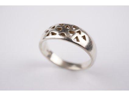 Stříbrný prsten 55