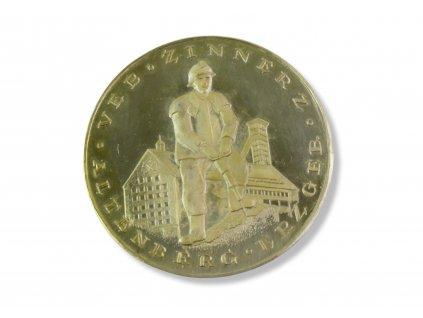 hornická medaile ZINNERZ ERZBERG ALTENBERG VEB
