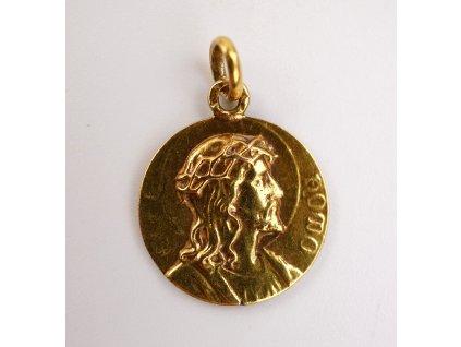 Zlatý přívěsek Kristus