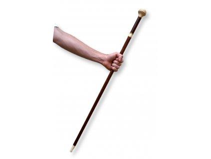 Starožitná špacírka hůl slonová kost slonovina