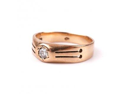 Zlatý prstýnek s diamantem RU
