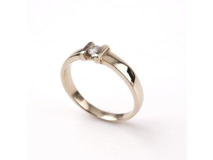 Zlatý prstýnek bílé zlato s kamínkem §
