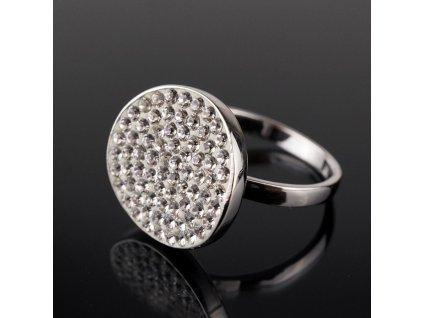 Stříbrný prstýnek s kamínky