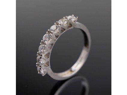 Stříbrný prstýnek s kamínky v56