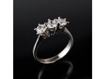 Stříbrný prstýnek s kamínky v54