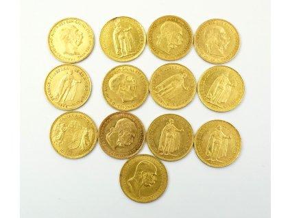Sbírka zlatých mincí 1 FJI