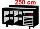 Barové chladící stoly-  2,5 m