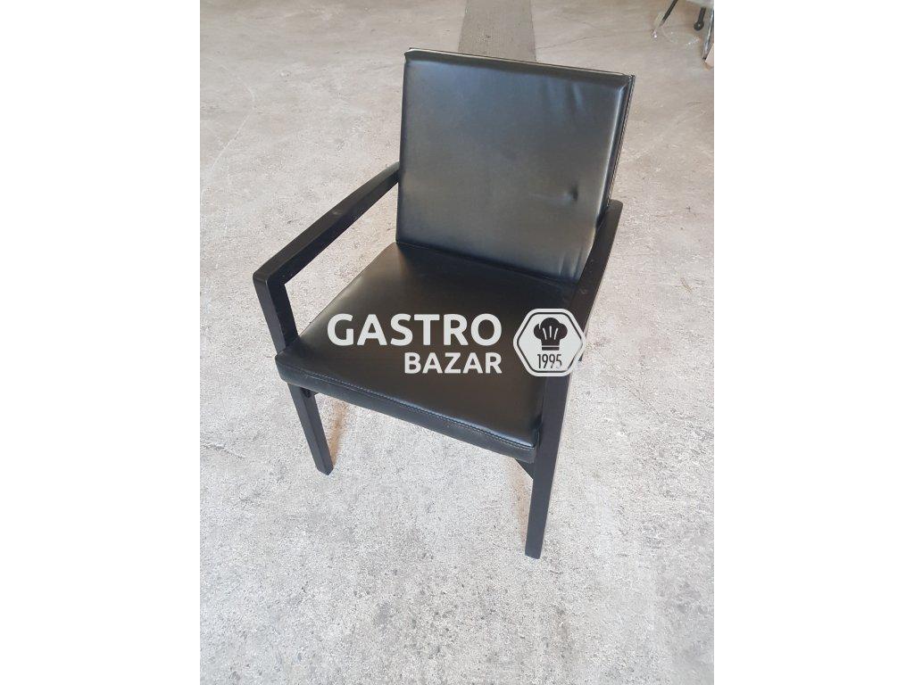 Židle NOVÁ černá ECO kůže