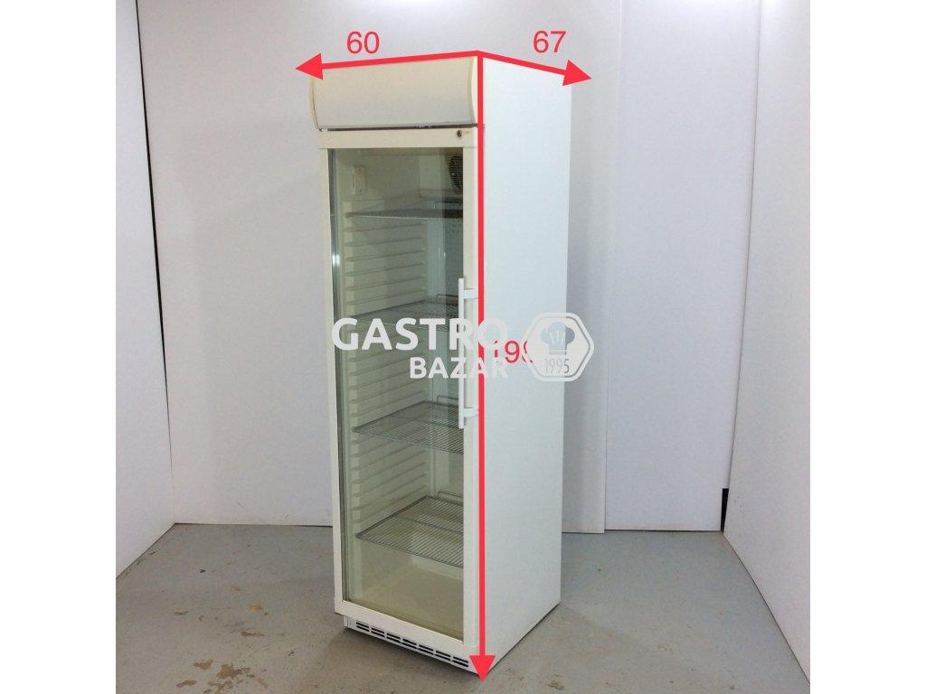 Prosklená lednice 60x67x198