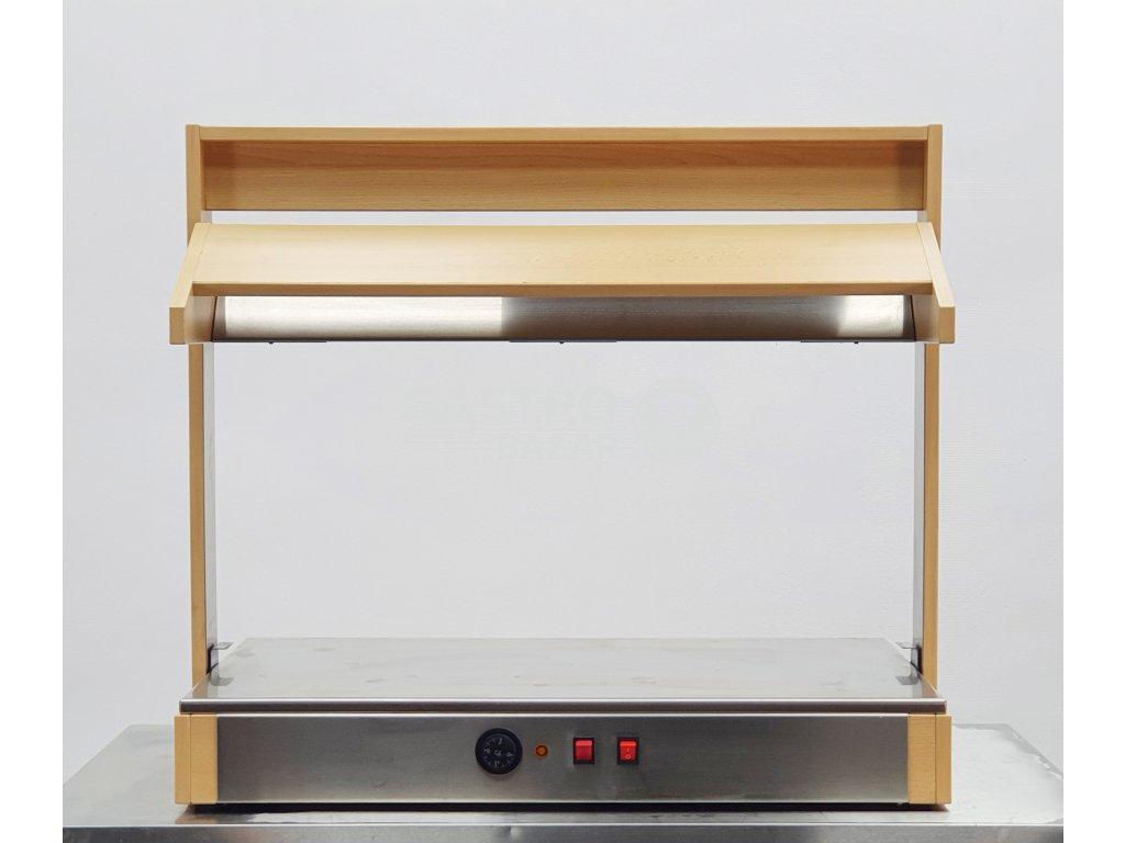 Ohřevná bufetová lampa s deskou na potraviny  66x81x90 cm