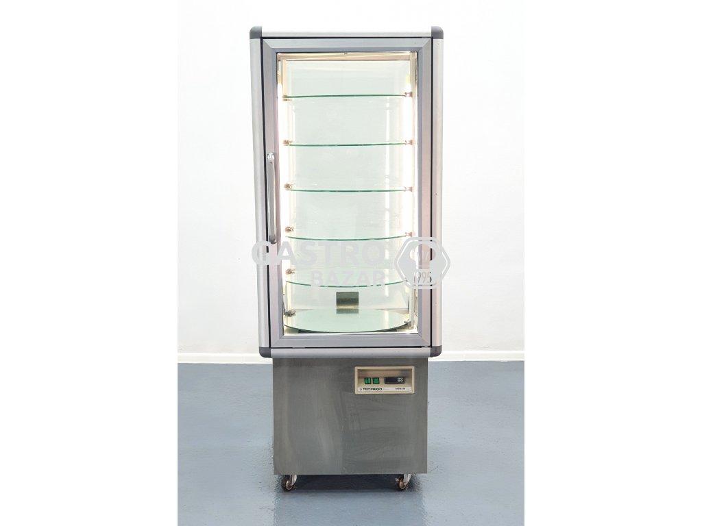 Chladící vitrína na dorty otočná 70x73x178cm
