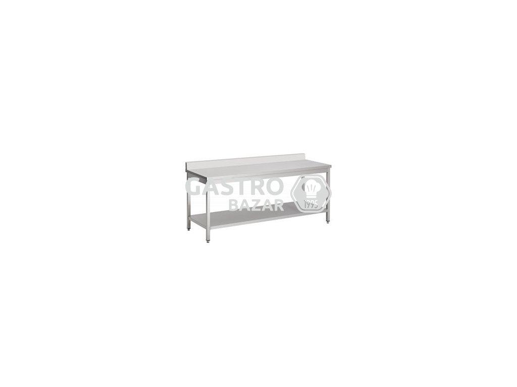 Nerezový stůl 200x70 se zadním lemem