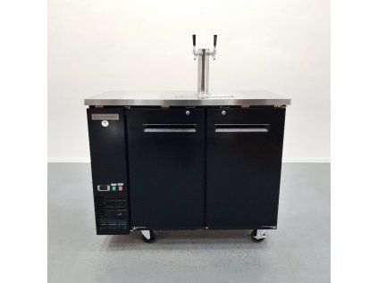Chladící stůl na sudy piva s pípou - 335l - 2x dveře