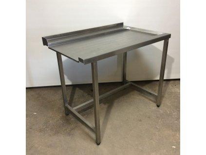Nerezový stůl k myčce výstupní pravý 110*70*92