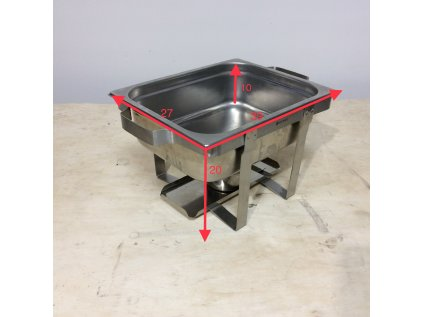 Chafing dish - GN 1/1 - 2 hořáky