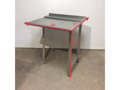 Nerezový výstupní stůl k myčce pravý - použitý 77*85*93