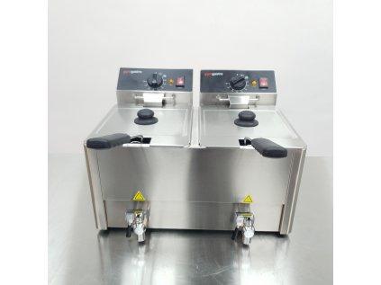 Elektrická fritéza 8 + 8 litrů - 6,5 kW