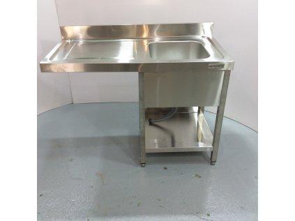 Nerezový dřez k myčce nádobí 1,2 m - 1 umyvadlo vpravo