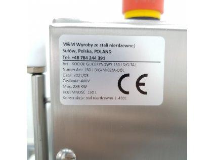 Míchací kotel/pánev Glycerinový varný kotel 150L - vhodný na smažení