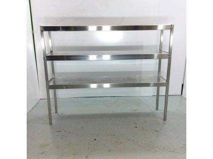Nerezový regál 157x126x40 cm