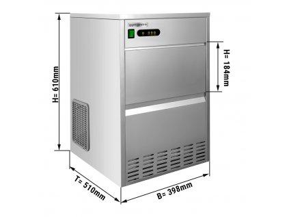 Stroj na výrobu kostek ledu / výrobník kostek ledu - 28 kg / 24 h - vodou chlazený