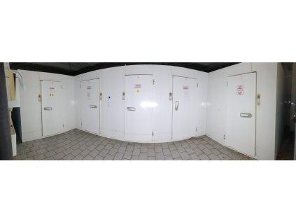 4x chladící 3x mrazící box 10,5x5,25x2,15 m