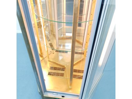 Chladící otočná šestiúhelníková vitrína tecfrigo Diamante 630