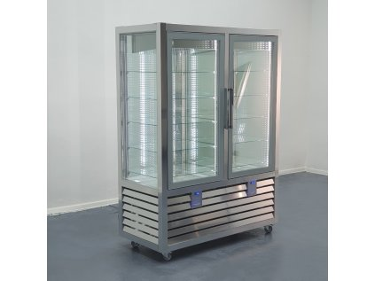 Panoramatická chladící a mrazící vitrína  SILFER QGL 900 V/V 2T