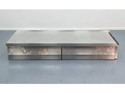 Nerezový stůl bez nohou 205x85x35 cm